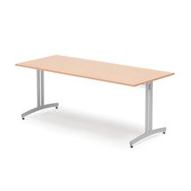 Jídelní stůl Sanna, 1800x800 mm, buk, hliníkově šedá