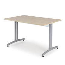 Jídelní stůl Sanna, 1200x800 mm, bříza, hliníkově šedá