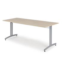 Jídelní stůl Sanna, 1800x800 mm, bříza, hliníkově šedá