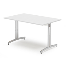 Jídelní stůl Sanna, 1200x800 mm, bílá/chrom