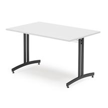 Jídelní stůl Sanna, 1200x800 mm, bílá/černá