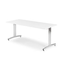 Jídelní stůl Sanna, 1800x800 mm, bílá/chrom