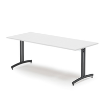 Jídelní stůl Sanna, 1800x800 mm, bílá/černá