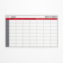 Skleněná plánovací tabule, týdenní, 780x480mm