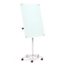 Mobilní skleněná tabule, 700x1000 mm, bílá