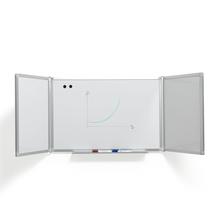 Bílá magnetická tabule Tracey, rozevírací, 2400x900 mm