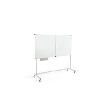 Pojízdná bílá tabule Megan, třídílná, 1800x1200 mm