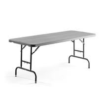 Skládací stůl Rosie, nastavitelná výška, 1830x760 mm, tmavě šedý