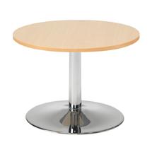 Konferenční stolek Monty, Ø700 mm, buk/chrom,