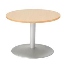 Konferenční stolek Monty, Ø700 mm, buk/hliníkově šedá
