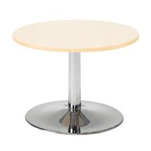 Konferenční stolek Monty, Ø700 mm, bříza/chrom