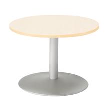 Konferenční stolek Monty, Ø700 mm, bříza/hliníkově šedá
