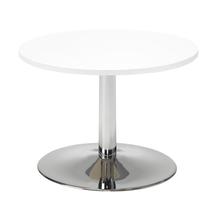 Konferenční stolek Monty, Ø700 mm, bílá/chrom