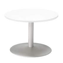 Konferenční stolek Monty, Ø700 mm, bílá/hliníkově šedá