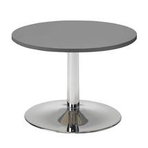 Konferenční stolek Monty, Ø700 mm, šedá/chrom