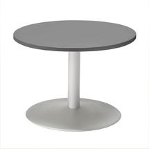Konferenční stolek Monty, Ø700 mm, šedá/šedá