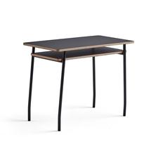 Psací stůl Novus, 1000x500 mm, černá podnož, černá deska