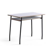Psací stůl Novus, 1000x500 mm, černá podnož, bílá deska