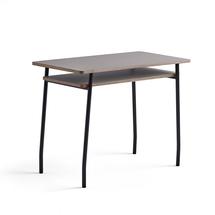 Psací stůl Novus, 1000x500 mm, černá podnož, jílově šedá deska