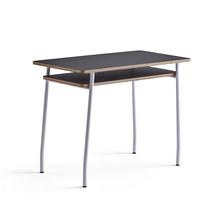 Psací stůl Novus, 1000x500 mm, bílá podnož, černá deska