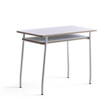Psací stůl Novus, 1000x500 mm, bílá podnož, bílá deska