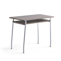 Psací stůl Novus, 1000x500 mm, bílá podnož, jílově šedá deska