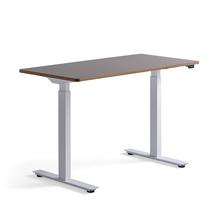 Psací stůl Novus, 1200x600 mm, bílá podnož, jílově šedá deska