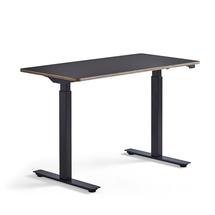 Psací stůl Novus, 1200x600 mm, černá podnož, černá deska
