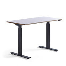 Psací stůl Novus, 1200x600 mm, černá podnož, bílá deska