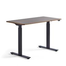 Psací stůl Novus, 1200x600 mm, černá podnož, jílově šedá deska