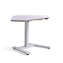 Rohový psací stůl Novus, 1200x750 mm, bílá podnož, bílá deska