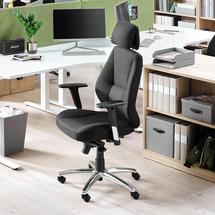 Kancelářská židle Stirling, vysoké opěradlo, černá textilie