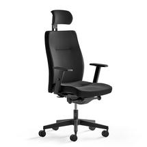 Kancelářská židle Cambridge, černý textilní potah