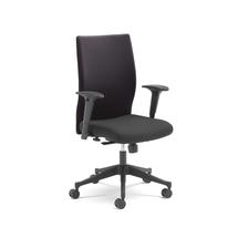 Kancelářská židle Milton, s područkami, černá