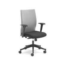 Kancelářská židle Milton, s područkami, šedá