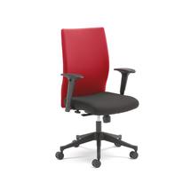Kancelářská židle Milton, s područkami, červená