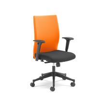 Kancelářská židle Milton, s područkami, oranžová