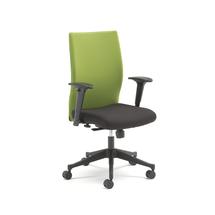 Kancelářská židle Milton, s područkami, zelená