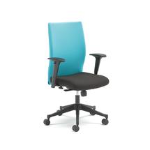 Kancelářská židle Milton, s područkami, tyrkysová