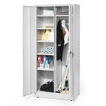 Úklidová skříň, 1800x800x500 mm, světle šedá