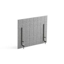 Stolový paraván Split, 800x600 mm, světle šedý
