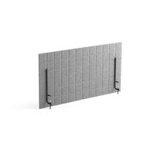 Stolový paraván Split, 1200x600 mm, světle šedý