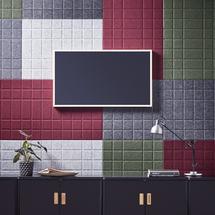 Akustický panel Split, 1600x600 mm, světle šedý