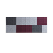 Akustické panely Split, sada 7 ks, světle šedá, tmavě šedá a vínová