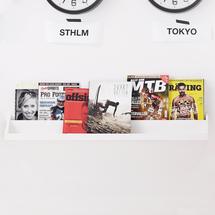 Polička na časopisy Nomad, 1000x120x120 mm, bílá