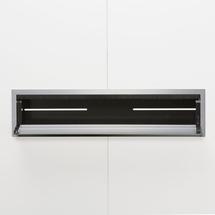 Zásuvkový panel, 605x150 mm, stříbrný