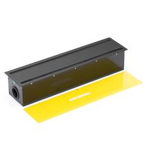 Zásuvkový panel, 605x150 mm, černý