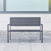 Parková lavička, umělé dřevo, černá