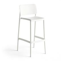 Barová židle Rio, výška sedáku 750 mm, bílá