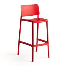 Barová židle Rio, výška sedáku 750 mm, červená